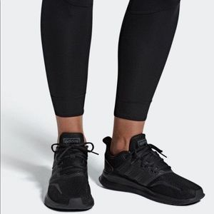 NEW Adidas Triple Black Run Falcon Sneakers